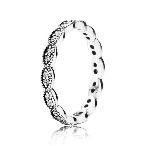 2018 Pandora Band of Shimmering Leaves 190923CZ