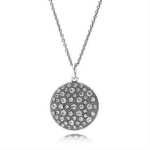 2018 Pandora Cosmic Stars Pendant Necklace 390360CZ-90