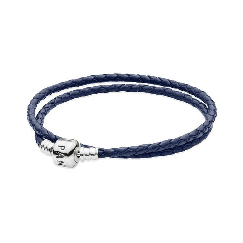 2018 Pandora Double Blue Leather Bracelet 590705CDB-D