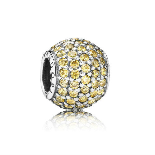 2018 Pandora Golden Pavé Ball Charm 791051FCZ