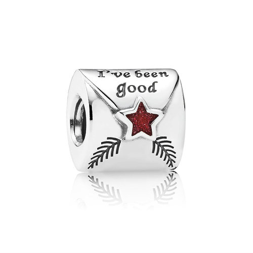 2018 Pandora Letter to Father Christmas Charm 791390EN58