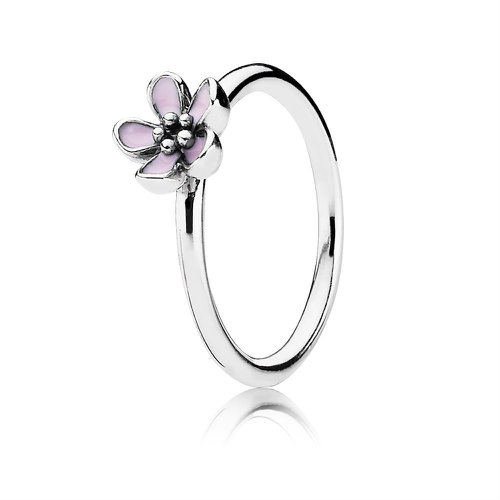 2018 Pandora Pink Cherry Blossom Flower Ring 190879EN40