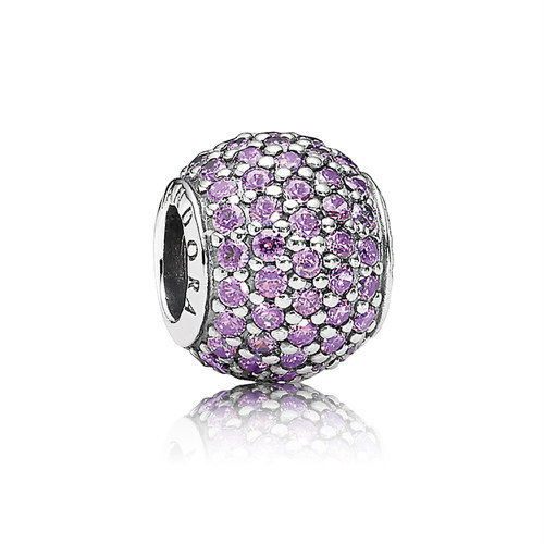 2018 Pandora Purple Pavé Ball Charm 791051CFP