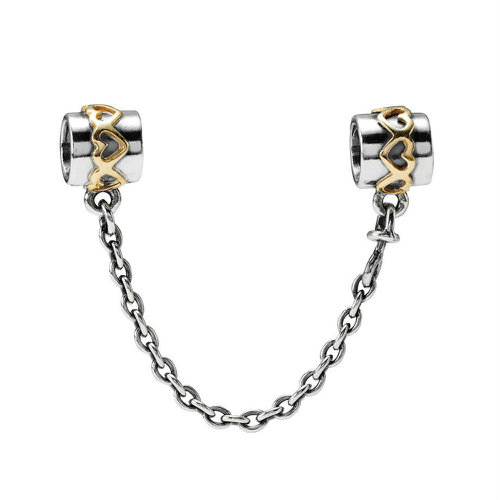 2018 Pandora Silver Safety Chain with 14ct Gold 790307-05
