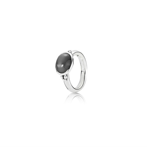 2018 Pandora Sterling Silver Ring with Grey Moonstone 190156MSG
